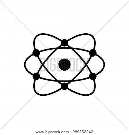 Molecular Atom Neutron Laboratory Icon Vector Physics Science Model For Your Web Site Design, Logo,