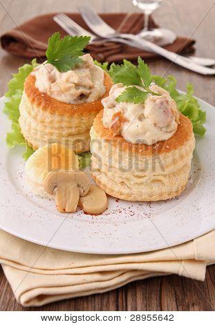 vol-au-vent with mushroom