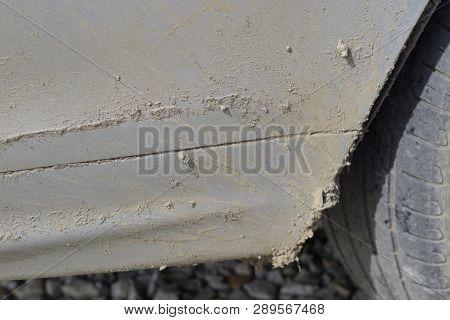 A Dirty Thresholds Unwashed Car. Dirty Car