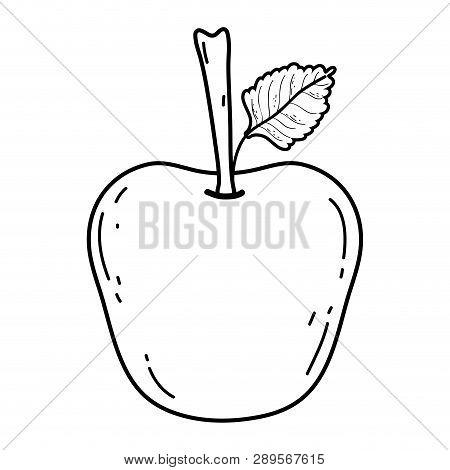 Delicious Meal Apple Cartoon Vector Illustration Graphic Design