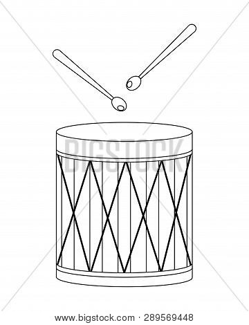 Drums Icon Isolated Vector Illustration Graphic Design