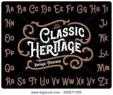 Vintage Font Set Named
