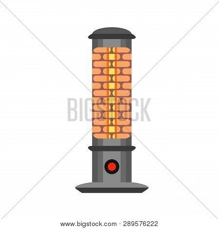 Halogen Heater Icon. Flat Illustration Of Halogen Heater Vector Icon For Web Design