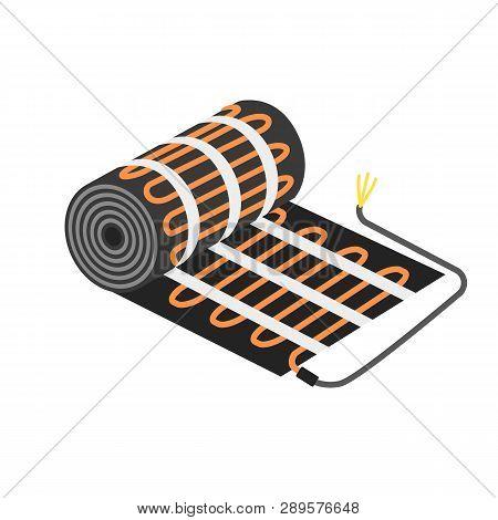 Floor Heater Equipment Icon. Flat Illustration Of Floor Heater Equipment Vector Icon For Web Design