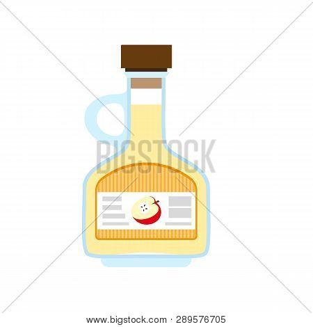 Apple Vinegar Icon. Flat Illustration Of Apple Vinegar Vector Icon For Web Design