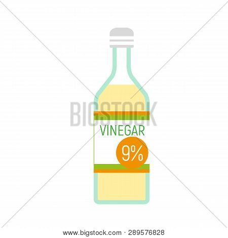 Vinegar Bottle Icon. Flat Illustration Of Vinegar Bottle Vector Icon For Web Design