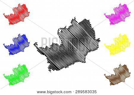 Hertfordshire (united Kingdom, England, Non-metropolitan County, Shire County) Map Vector Illustrati