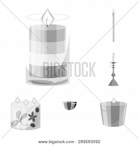 Vector Design Of Paraffin And Fire  Icon. Collection Of Paraffin And Decoration    Vector Icon For S
