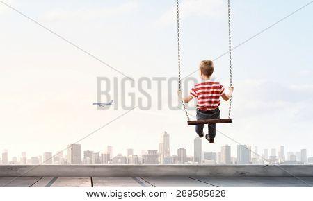 Happy careless childhood. Mixed media