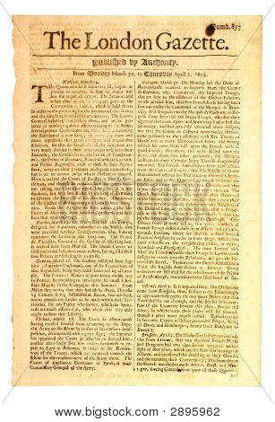 London Gazette tidningen daterad 1674.