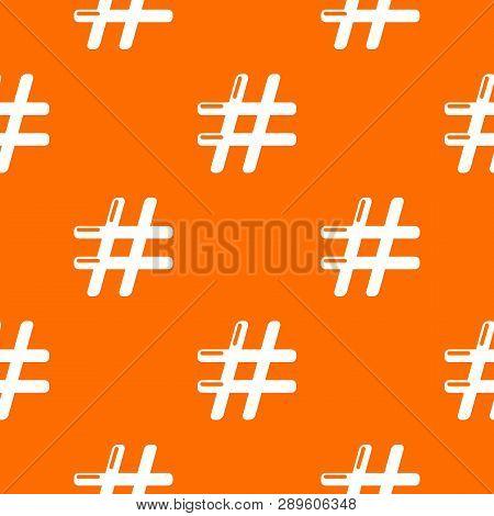 Hashtag Pattern Vector Orange For Any Web Design Best
