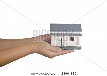 sample house in hands