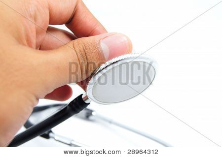 hand hold stethoscope