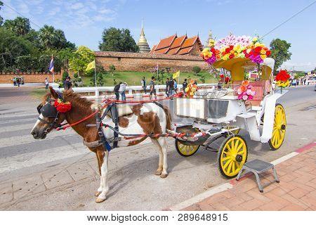 Lampang Thailand - April 12, 2016 :  Landau Lampang Lampang Is The Only Province In Thailand With Wa