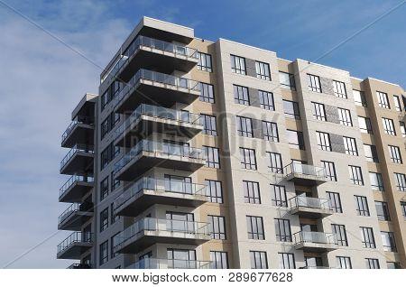 Residential Building Modern Apartment Condominium Architecture Balcony