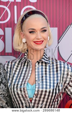 Katy Perry at the 2019 iHeartRadio Music Awards held at the Microsoft Theater in Los Angeles, USA on March 14, 2019.