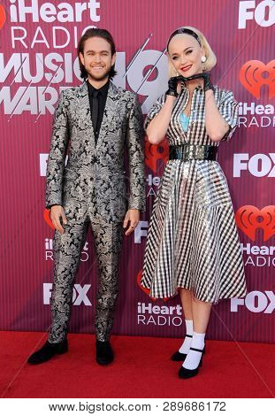 Zedd and Katy Perry at the 2019 iHeartRadio Music Awards held at the Microsoft Theater in Los Angeles, USA on March 14, 2019.