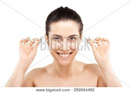 Girl With Cotton Ear Sticks