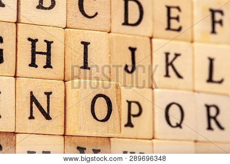 Letterst On Wooden Cubes