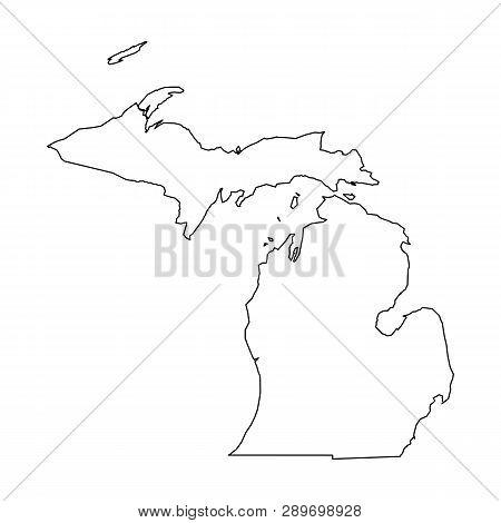 Michigan State Usa Vector Photo Free Trial Bigstock