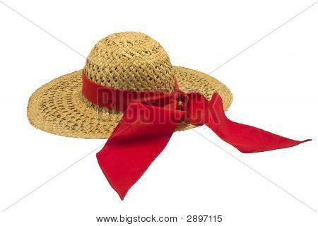 Lady'S  Straw Gardening Hat