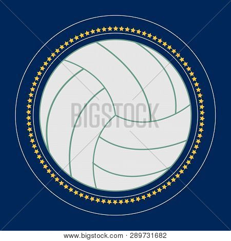 Valleyball Icon Vector Flat Illustration. Volleyball Club Logo. Valleyball Emblem. The Symbol Of A V