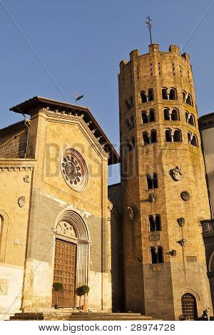Orvieto Church And Bell Tower