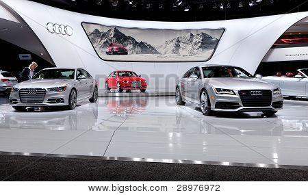 2012 Naias Audi Display