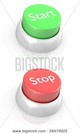 START and STOP buttons