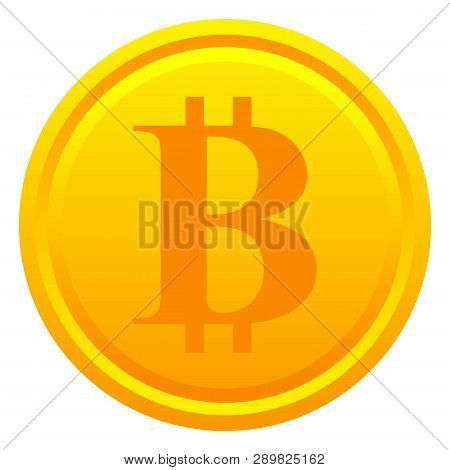 Bitcoin Golden Coin Isolated On White Background