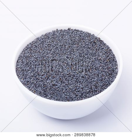 Dry Poppy Seeds Isolated On White Background