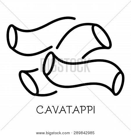 Cavatappi Pasta Icon. Outline Cavatappi Pasta Icon For Web Design Isolated On White Background