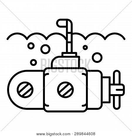 Guard Submarine Periscope Icon. Outline Guard Submarine Periscope Icon For Web Design Isolated On Wh