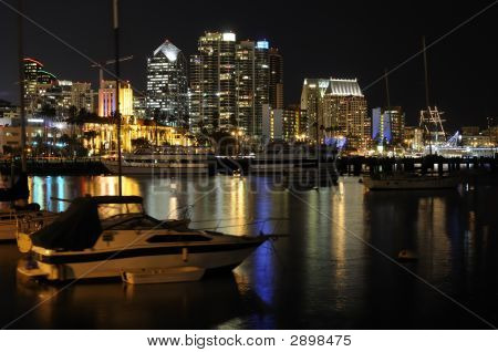 San Diego Downtown At Night