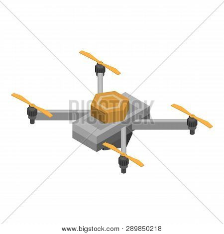 Sensor Drone Icon. Isometric Of Sensor Drone Icon For Web Design Isolated On White Background