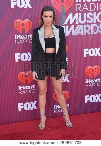 LOS ANGELES - MAR 14:  Lele Pons arrives for the iHeart Radio Music Awards 2019 on March 14, 2019 in Los Angeles, CA