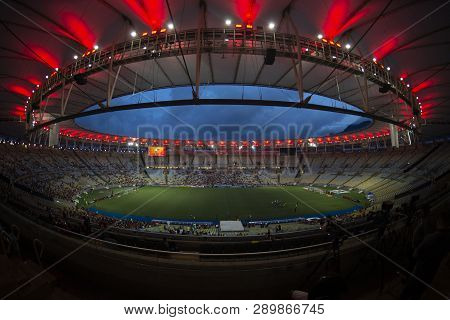Rio, Brazil - March 16, 2019: Xxxxxxx Player In Match Between Flamengo And Volta Redonda By The Cari