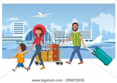 Family Departure Vector Photo Free Trial Bigstock