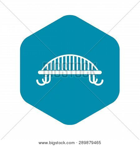 Bench With Backrest Icon In Simple Style. Seat Symbol Isolated Vector Illustration