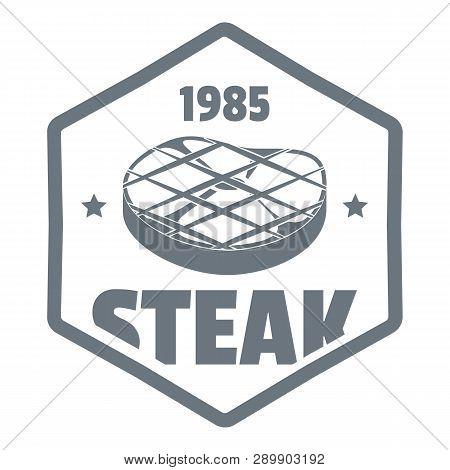 1985 Steak Logo. Simple Illustration Of 1985 Steak Logo For Web Design Isolated On White Background