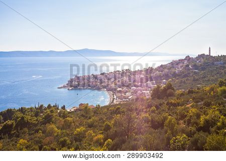 Igrane, Dalmatia, Croatia, Europe - Overview Across The Beautiful Bay Of Igrane