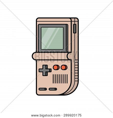 Retro Game Electronic Console. Classical Intellectual Vintage Toy. Portable Arcade Handheld Gaming F