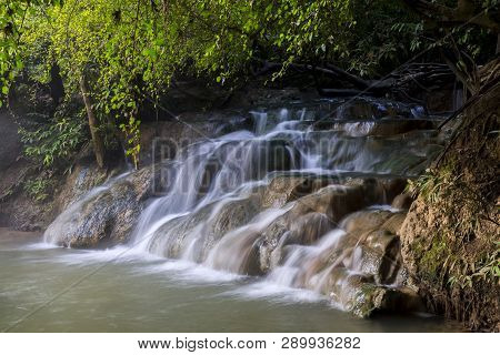 Hot Spring Waterfall At Khlong Thom Nuea, Krabi, Thailand
