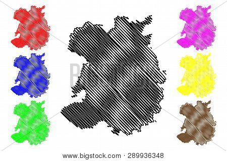 Shropshire (united Kingdom, England, Non-metropolitan County, Shire County) Map Vector Illustration,