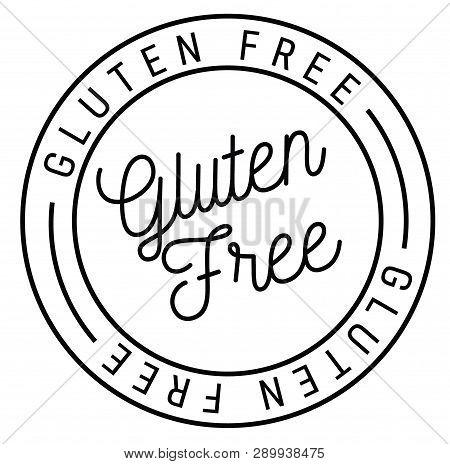 Gluten Free Stamp On White Background Sticker Label