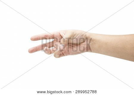 Hand Collection Of Count Numeric Six Sign Language  . Isolated On White Background With Clipping Pat