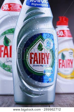 Plastic Bottles Of Fairy Dish Detergents