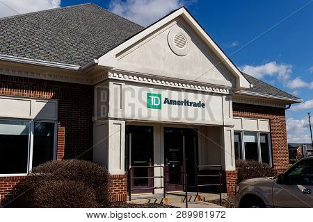 Indianapolis - Circa March 2019: Ameritrade Local Branch Office. Td Ameritrade In An Online Broker O