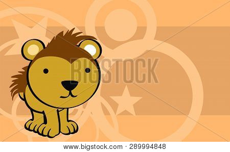 Cute Porcupine Baby Cartoon Background In Vector Format