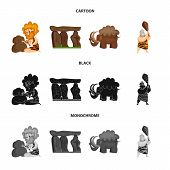 Vector design of evolution  and prehistory icon. Collection of evolution  and development  stock vector illustration. poster